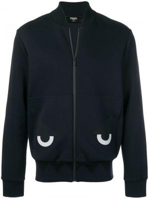 Куртка-бомбер Bag Bugs Fendi. Цвет: синий