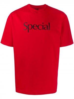 Футболка с надписью Special Christopher Kane. Цвет: красный