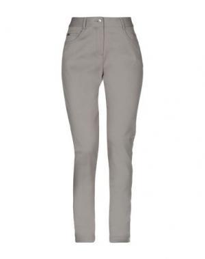 Джинсовые брюки ST. JOHN. Цвет: светло-серый