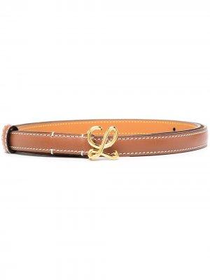 Monogram buckle belt LOEWE. Цвет: коричневый