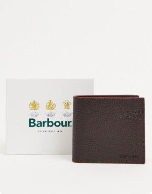 Коричневый бумажник из зернистой кожи Barbour