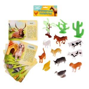 Набор животных с обучающими карточками IQ-ZABIAKA