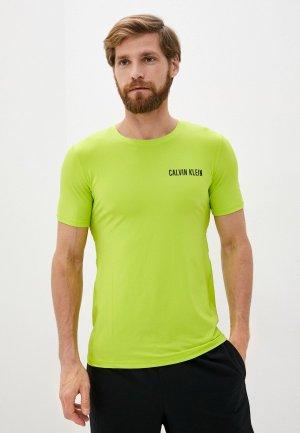 Футболка спортивная Calvin Klein Performance. Цвет: зеленый