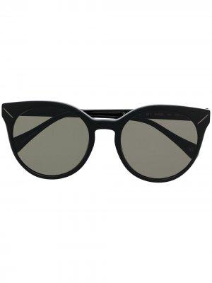 Солнцезащитные очки YS 500 в оправе кошачий глаз Yohji Yamamoto. Цвет: черный