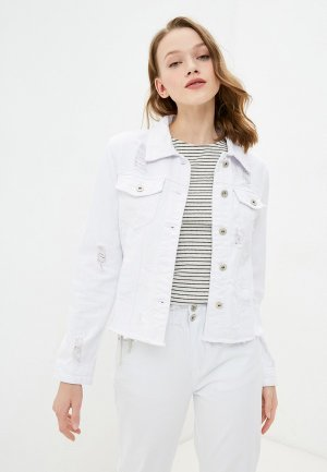 Куртка джинсовая B.Style. Цвет: белый
