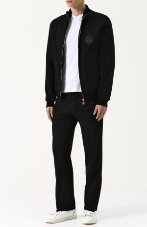Хлопковый спортивный костюм Billionaire. Цвет: черный