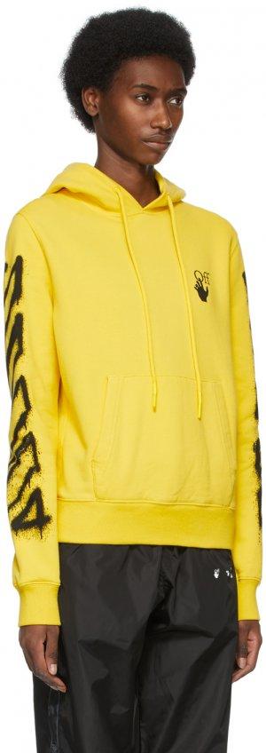 Yellow Spray Marker Hoodie Off-White. Цвет: maize black