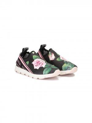Слипоны Sorrento Dolce & Gabbana Kids. Цвет: разноцветный