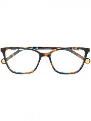 Rectangular-frame glasses Carolina Herrera. Цвет: оранжевый