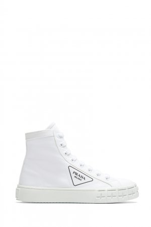 Белые кеды Prada. Цвет: белый