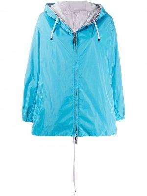 Двусторонняя куртка с капюшоном Max Mara. Цвет: синий