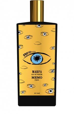 Парфюмерная вода Marfa Memo. Цвет: бесцветный