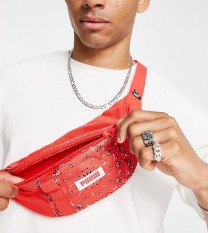 Красная сумка-кошелек на пояс с принтом пейсли -Красный Puma
