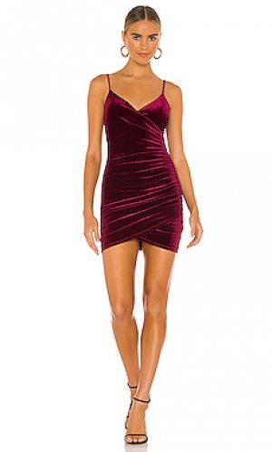Мини платье aldina Lovers + Friends. Цвет: красное вино