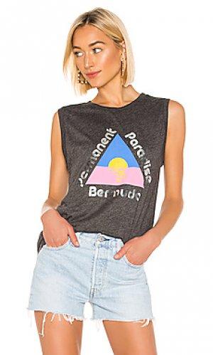 Майка-борцовка permanent paradise bermuda Wildfox Couture. Цвет: уголь
