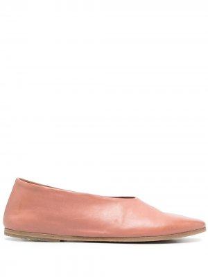 Leather ballerina flats Marsèll. Цвет: розовый