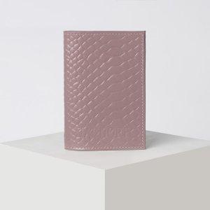 Обложка для паспорта, цвет сиреневый TEXTURA
