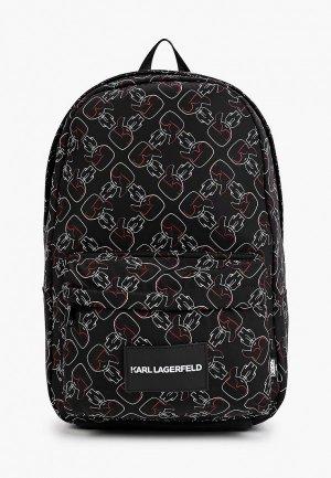 Рюкзак Karl Lagerfeld Kids. Цвет: черный