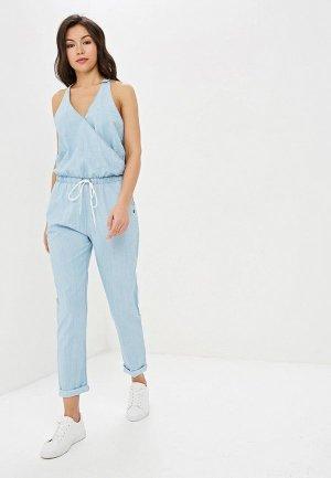 Комбинезон джинсовый Roxy. Цвет: голубой