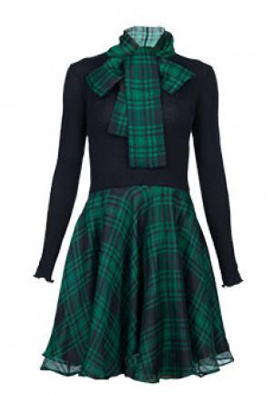 Платье BONA DEA. Цвет: зеленый