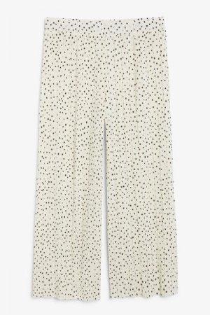 Плиссированные брюки-капри Monki. Цвет: бежевый, разноцветный