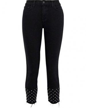 Джинсовые брюки-капри L'AGENCE. Цвет: черный