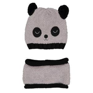 Комплект из шапки и махрового шарфа-снуда 0 мес -3 года LA REDOUTE COLLECTIONS. Цвет: серый/ черный