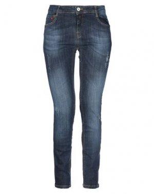 Джинсовые брюки SOALLURE. Цвет: синий