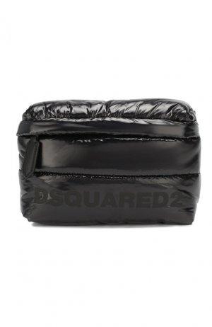 Стеганая поясная сумка Dsquared2. Цвет: черный