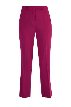 Базовые брюки укороченного кроя из практичной немнущейся ткани ETRO. Цвет: розовый