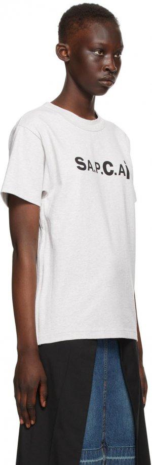 Grey Sacai Edition Kiyo T-Shirt A.P.C.. Цвет: plb grey