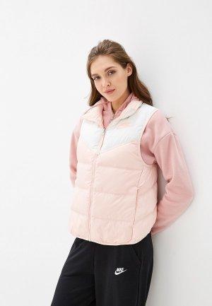 Жилет утепленный Nike Sportswear Down Fill Womens Reversible Vest. Цвет: розовый