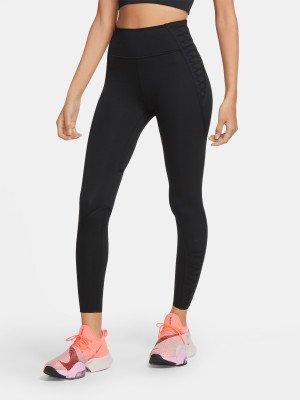 Легинсы женские One Luxe, размер 46-48 Nike. Цвет: черный