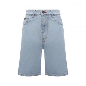 Джинсовые шорты BLCV. Цвет: голубой