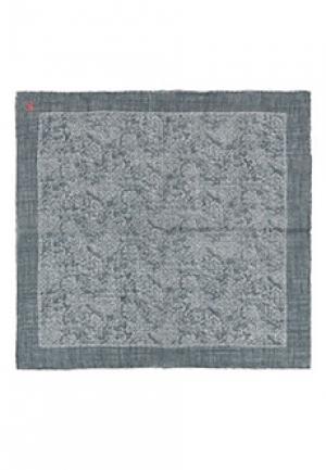 Платок карманный ISAIA. Цвет: серый