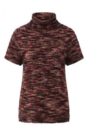 Пуловер из кашемира и шелка Kiton. Цвет: бордовый