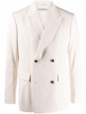 Двубортный пиджак ARDUSSE. Цвет: нейтральные цвета