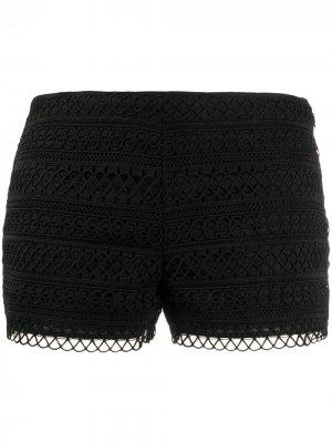 Кружевные шорты Charo Ruiz Ibiza. Цвет: черный