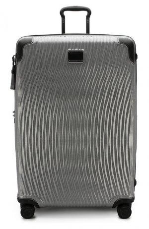 Дорожный чемодан Latitude Tumi. Цвет: серебряный