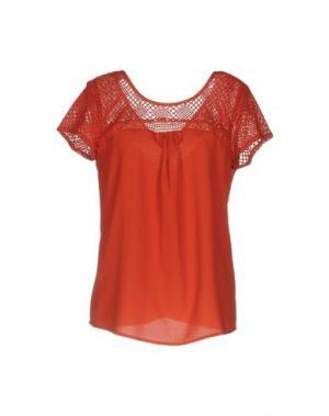 Блузка AXARA PARIS. Цвет: ржаво-коричневый