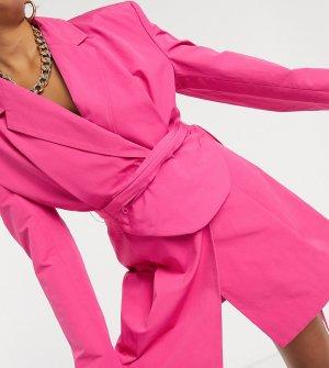 Платье-блейзер со съемной сумкой-кошелек на пояс COLLUSION-Розовый Collusion