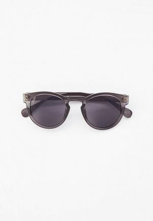 Очки солнцезащитные Selected Homme. Цвет: серый