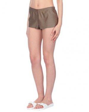 Пляжные брюки и шорты AGOGOA. Цвет: золотистый