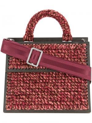 Плетеная сумка плечо Michel Copacabana 711. Цвет: розовый и фиолетовый