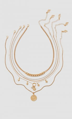 Набор из 5 ожерелий Stradivarius