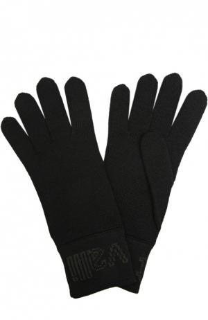 Вязаные перчатки Just Cavalli. Цвет: черный