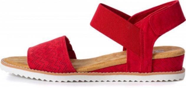 Сандалии женские Desert Kiss, размер 37.5 Skechers. Цвет: красный