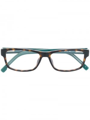 Havana square glasses Lacoste. Цвет: коричневый