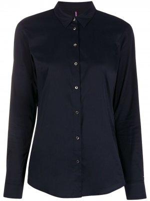 Рубашка на пуговицах Tommy Hilfiger. Цвет: синий