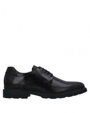 Обувь на шнурках NERO GIARDINI. Цвет: красно-коричневый